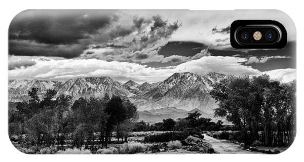 Hill iPhone Case - Backroads Of Bishop by Cat Connor