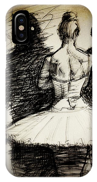 Dance iPhone Case - Backstage by H James Hoff