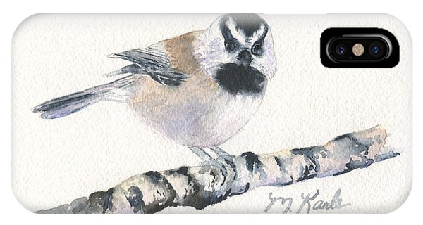 Backyard Busybody - Mountain Chickadee IPhone Case