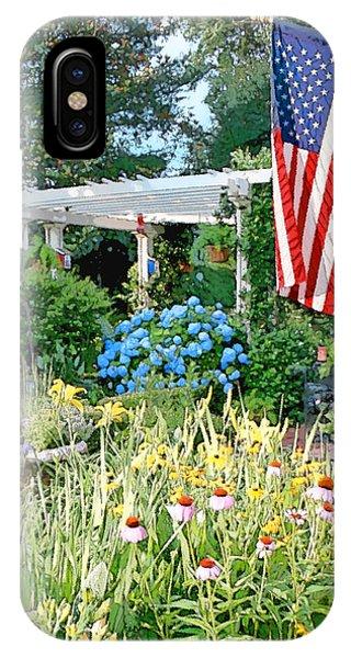 American Flag iPhone Case - Backyard Paradise by Greg Joens