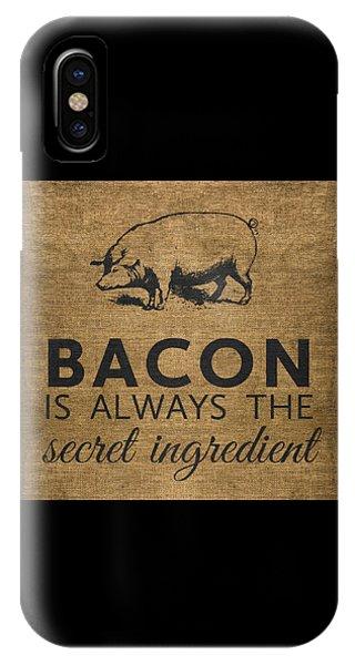 Rural Scenes iPhone X / XS Case - Bacon Is Always The Secret Ingredient by Nancy Ingersoll