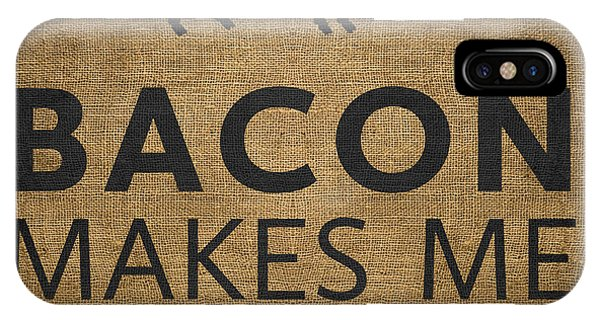 Kitchen iPhone Case - Bacon Makes Me Happy by Nancy Ingersoll