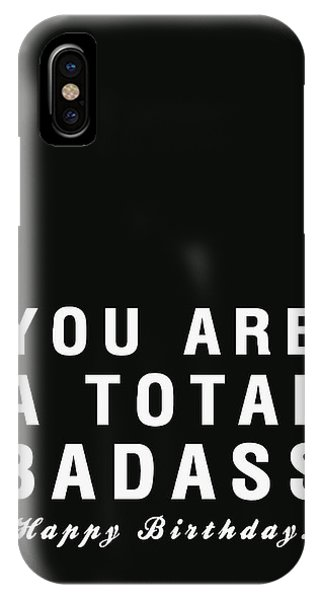 Badass Birthday Card IPhone Case
