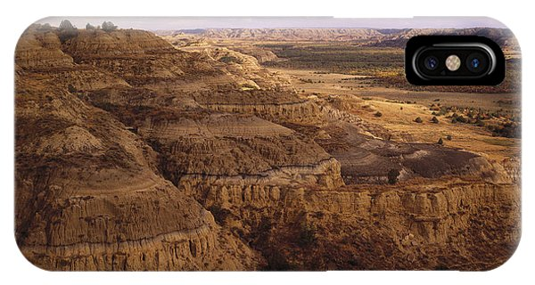 North Dakota Badlands iPhone Case - Badlands In Theodore Roosevelt National by Tim Fitzharris