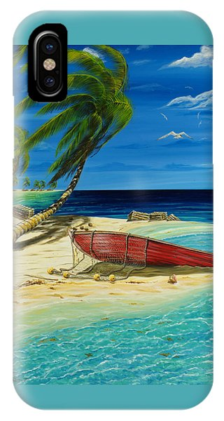 IPhone Case featuring the painting Bahama Beach by Steve Ozment
