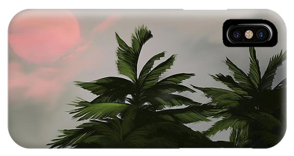 Sun Tropical Palm Breeze IPhone Case