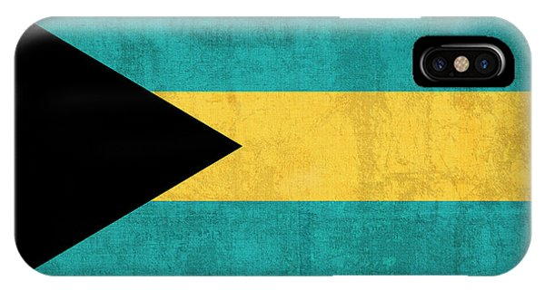 Bahamas iPhone Case - Bahamas Flag Vintage Distressed Finish by Design Turnpike