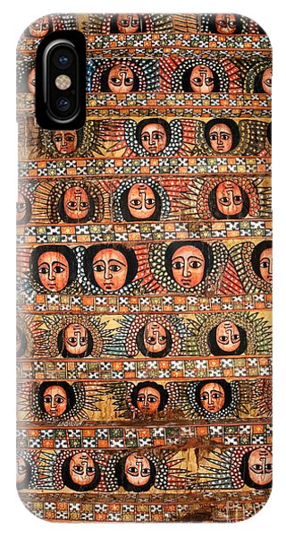 Bahar Bahir Dar Ethiopia Bright Colour Painted Church Ceiling IPhone Case