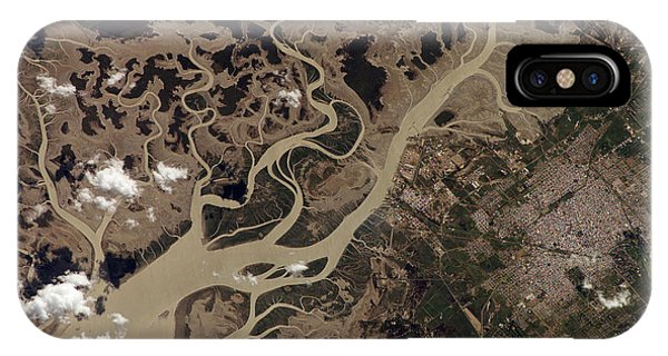 Tidal Marsh iPhone Case - Bahia Blanca Estuary by Nasa/science Photo Library