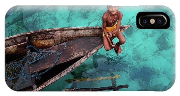 Boys iPhone Case - Bajau Boy by Hesham Alhumaid