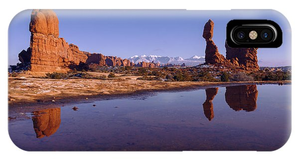 Arches National Park iPhone Case - Balanced Reflection by Chad Dutson