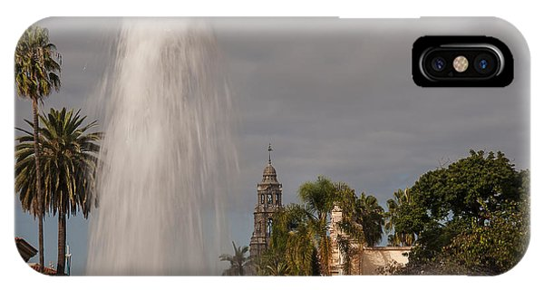 Balboa Park Fountain And California Tower IPhone Case