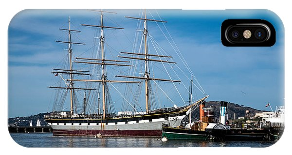 Rowing Past Balclutha And Steamship Eppleton Hall IPhone Case