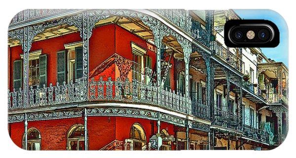 Steve Harrington iPhone Case - Balconies Painted by Steve Harrington