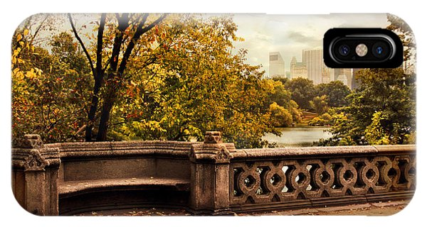 Park Bench iPhone Case - Balcony Bridge Views by Jessica Jenney