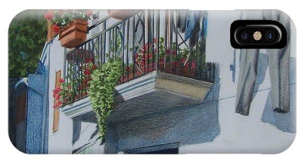 Balcony In Maratea IPhone Case