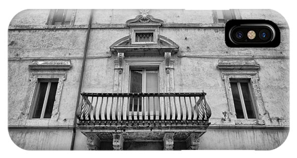 Balcony In Assisi IPhone Case