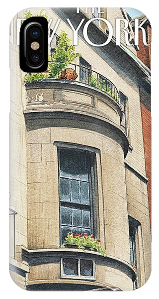 Brownstone iPhone Case - Balcony Scene by Harry Bliss