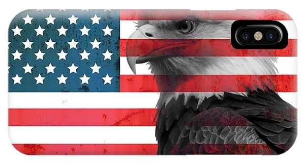 Bald Eagle American Flag IPhone Case