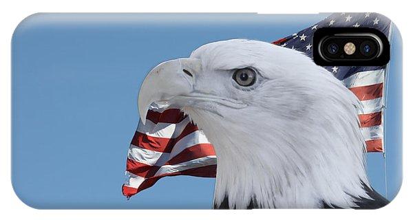 Bald Eagle And Flag IPhone Case