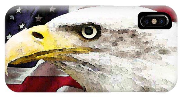 Bald Eagle Art - Old Glory - American Flag IPhone Case