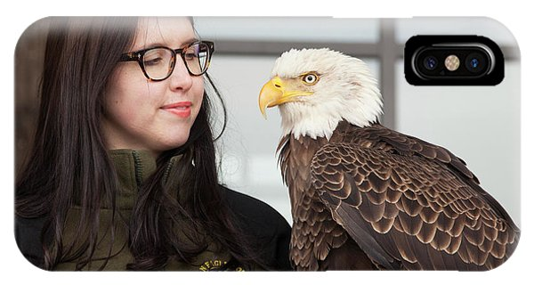 Bald Eagle With Handler Phone Case by Jim West