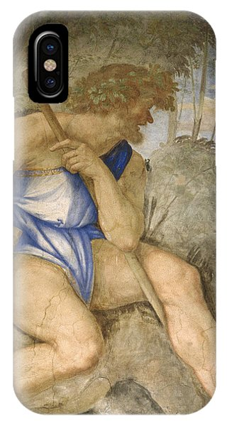 Cyclops iPhone Case - Baldassare Peruzzi 1481-1536. Italian Architect And Painter. Villa Farnesina. Polyphemus. Rome by Baldassarre Peruzzi