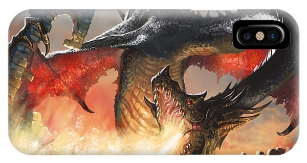 Fantasy iPhone X Case - Balerion The Black by Ryan Barger