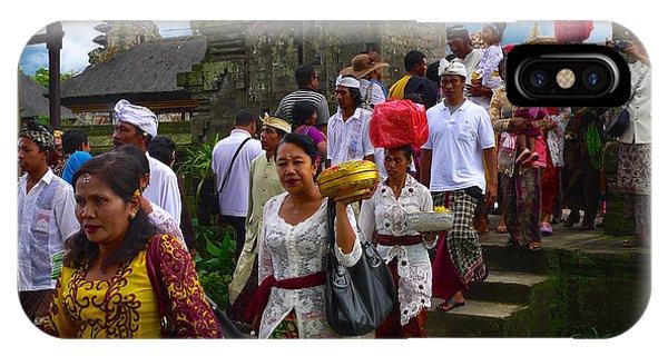 Balinese Leaving Beratan Temple Bali IPhone Case