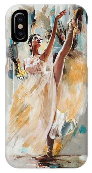 Dance iPhone Case - Ballerina 24 by Mahnoor Shah