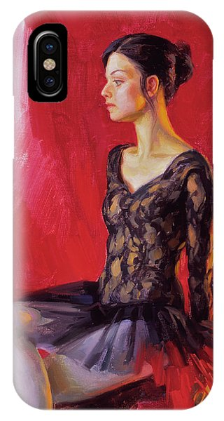 Ballerina In Black IPhone Case