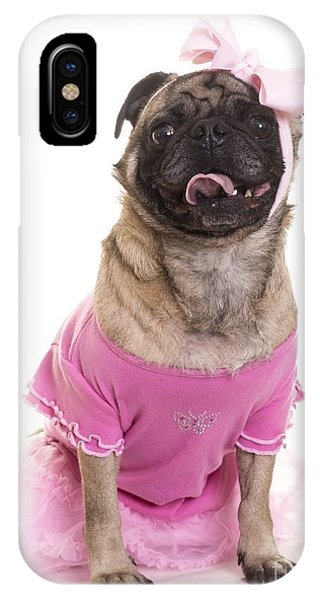 Pug iPhone X Case - Ballerina Pug Dog by Edward Fielding
