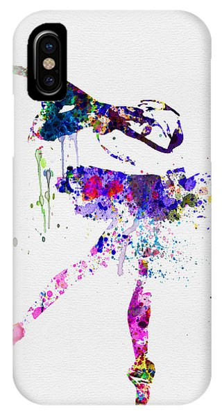 Ballerina iPhone Case - Ballerina Watercolor 2 by Naxart Studio