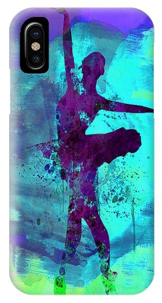 Vivid Colors iPhone Case - Ballerina Watercolor 4 by Naxart Studio