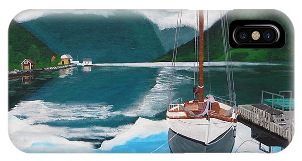 Ballestrand Northern Norway  IPhone Case