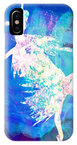 Ballerina iPhone Case - Ballet Watercolor 2 by Naxart Studio