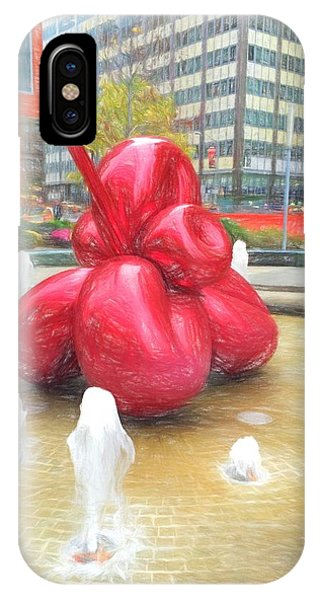 Balloon Flower In The Water IPhone Case