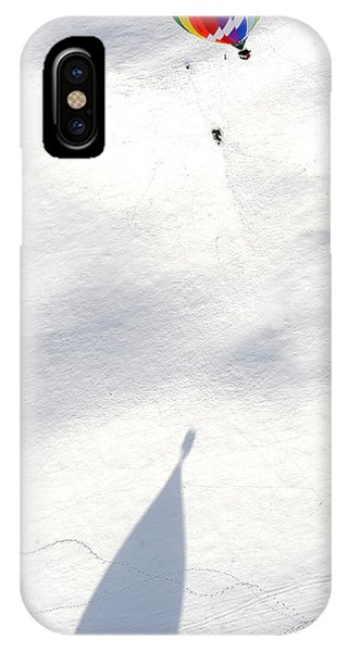 Balloon Snow Shadow Phone Case by Stephen Richards