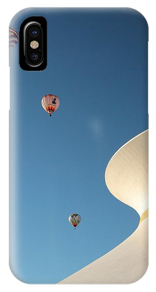 Balloons Race Over The Planetarium IPhone Case