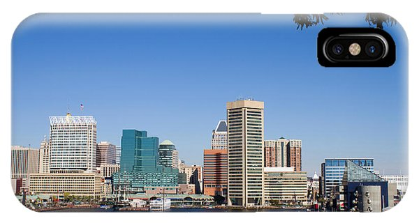Baltimore Harbor Skyline IPhone Case
