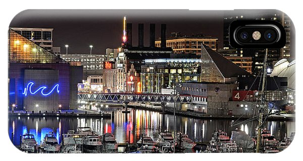 Baltimore Inner Harbor At Night IPhone Case