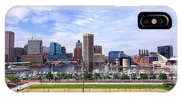 Baltimore Inner Harbor Beach IPhone Case