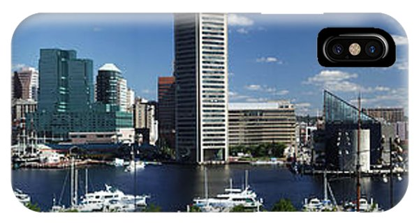 Baltimore Inner Harbor Panorama IPhone Case