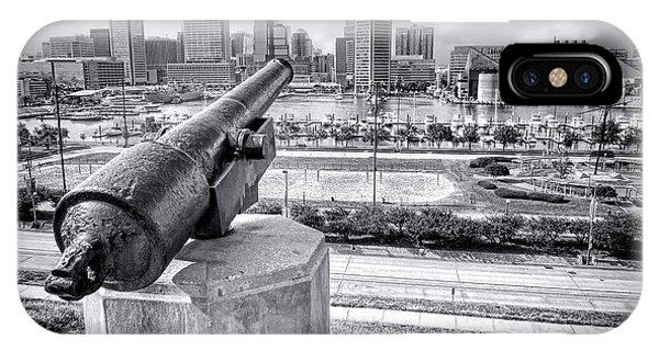 Baltimore Inner Harbor Skyline IPhone Case