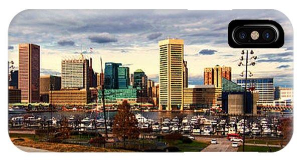 Baltimore Inner Harbor Skyline Panorama IPhone Case