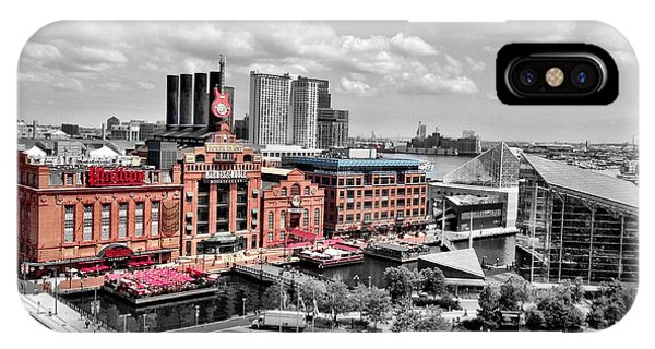 Baltimore Power Plant Color Black White IPhone Case