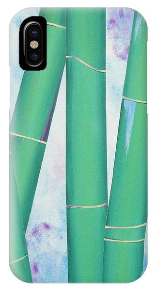 Bamboo Tryptych 3 IPhone Case