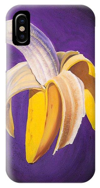 Banana Half Peeled IPhone Case