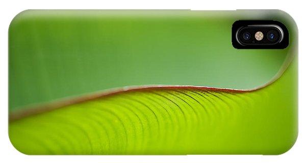Banana Leaf Macro IPhone Case