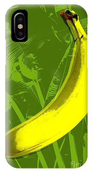 Fruit iPhone Case - Banana Pop Art by Jean luc Comperat